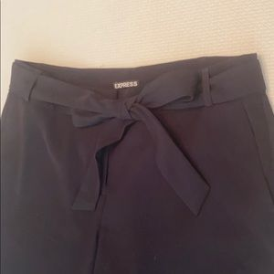 Express Wide Leg Pant With Tie Front